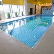 Swimming pool with mineral water