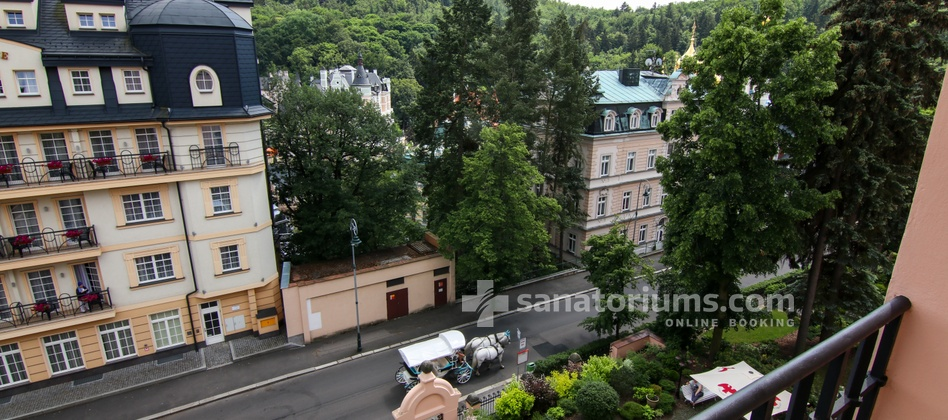 Spa-Hotel Smetana Vysegrad - view from the double room to the street