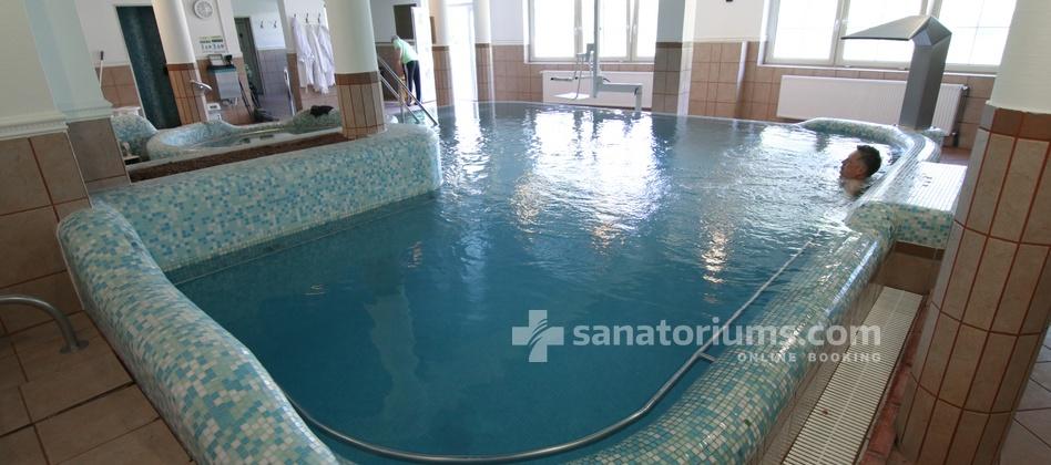 Spa Hotel Spa Heviz - swimming pool with thermal water and whirlpool jets