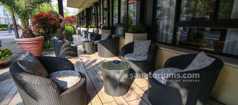 Spa Hotel Terme Milano - summer terrace