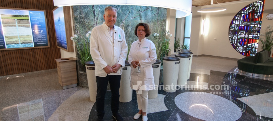 Spa Hotel Egle Economy - head physician of the spa hotel Egle A. Balchius and doctor the sanatoriums.com E. Khorosheva