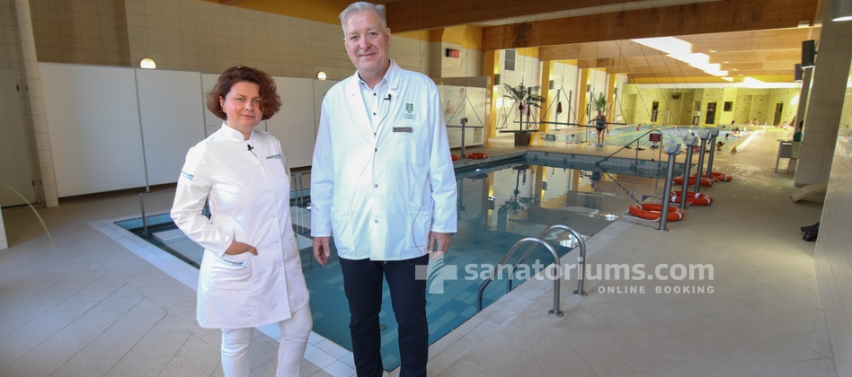 Spa Hotel Egle Economy - head physician of the spa hotel Egle A. Balčius and doctor of the sanatoriums.com E. Khorosheva