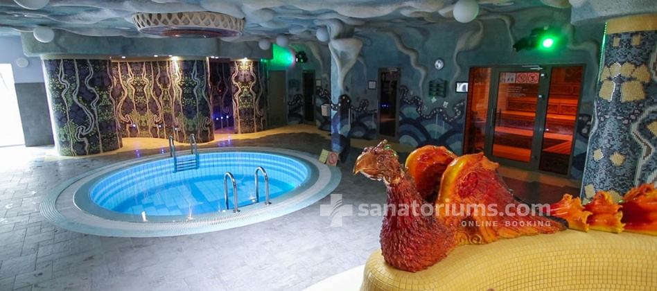 Spa Hotel Druskininkai - a complex of Grand SPA Lietuva - pool for cooling after saunas in the aqua park