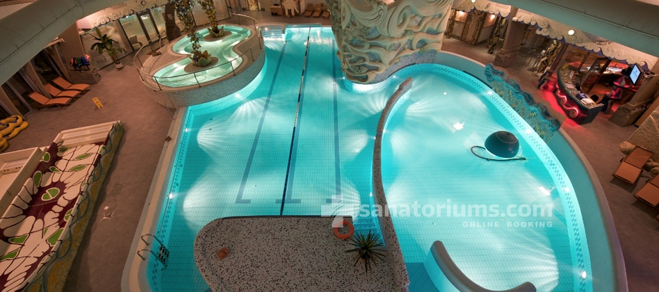 Apart-Hotel Dzukija - complex Grand SPA Lietuva - pool with hydromassage jets and a jacuzzi in the aqua park