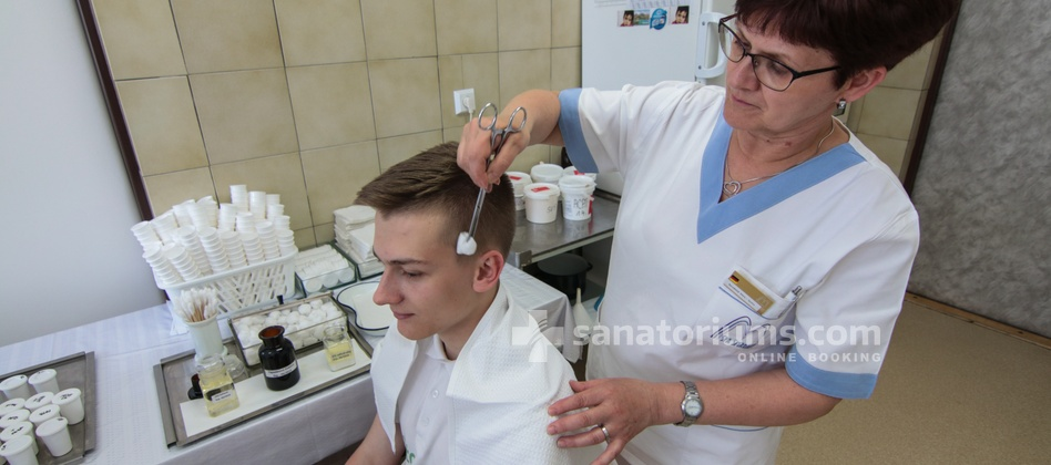 "Spa Hotel Morava - treatment of head dermatosis in the medical department of the hotel ""Central"""