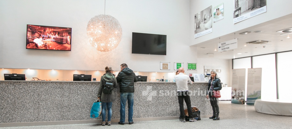 Hotel Slovenija - reception of the medical center Terme & Wellness Palace