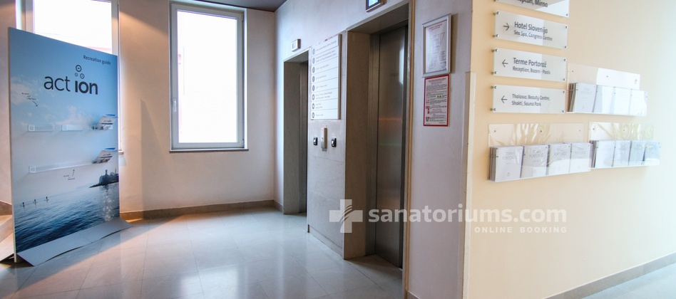 Hotel Slovenija - elevator at the medical center Terme & Wellness Palace