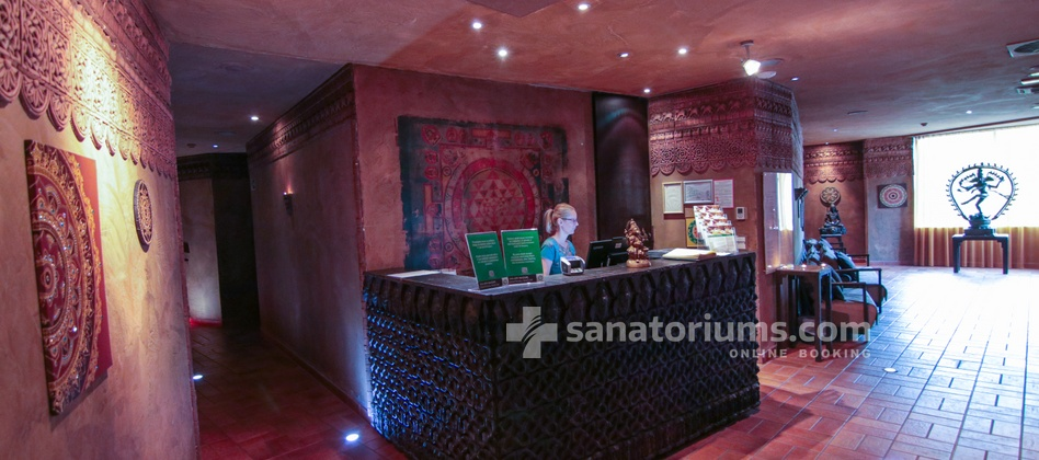 Hotel Slovenija - reception of the Shakti ayurveda center at the medical centre Terme & Wellness Palace
