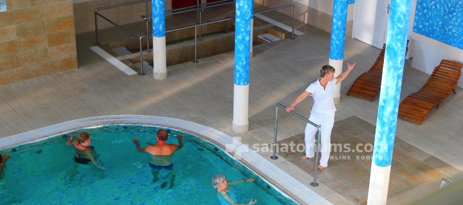 Spa Hotel Jirasek - gymnastics in the swimming pool