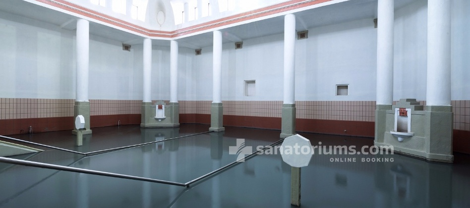 "Spa-Hotel Jalta - mud pool in the balneological center ""Napoleon"""