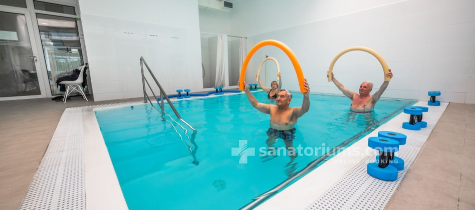 Hotel Granit - gymnastics in a thermal pool