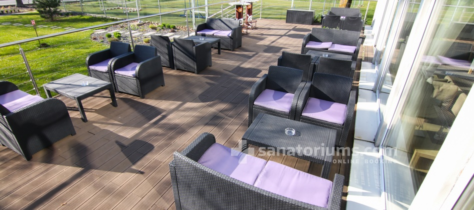 "Hotel Granit - outdoor terrace of the lobby bar ""Frantisek"""