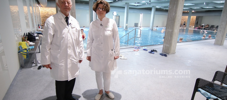 "Spa Hotel Beethoven - balneologist of the sanatoriums.com examines ""Thermalium"" wellness center"