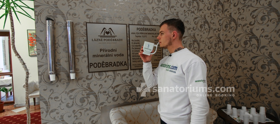 "Spa Hotel Libensky - drinking course of treatment with mineral water ""Podebradka"""