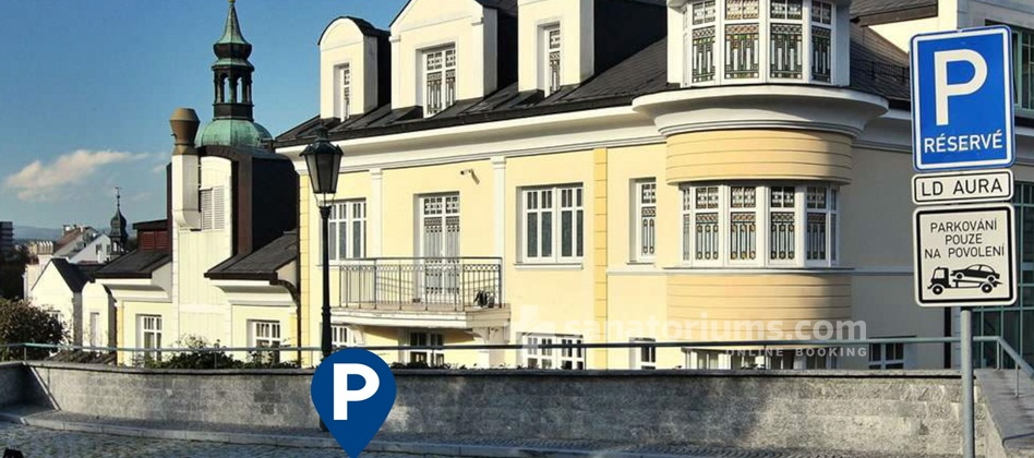 Spa and Wellness Hotel Karlsbad Grande Madonna - parking behind the hotel is charged additionally