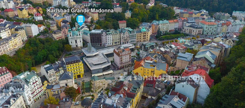 Spa and Wellness Hotel Karlsbad Grande Madonna - location of the hotel in the resort of Karlovy Vary