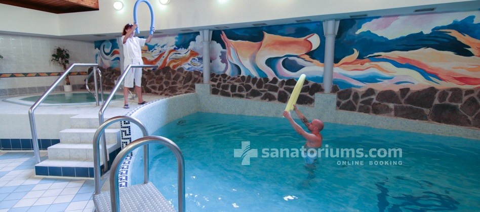 Spa Hotel Kolonada - gymnastics in the pool